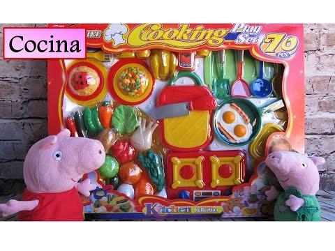 peppa pig accesorios de cocina juguetes de cocina para nios con peppa pig en espaol