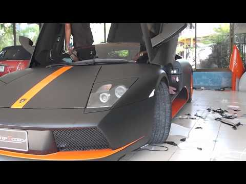 ฟิล์มเปลี่ยนสีรถยนต์ Lamborghini Murcielago (Matte Black) By Wrap Society