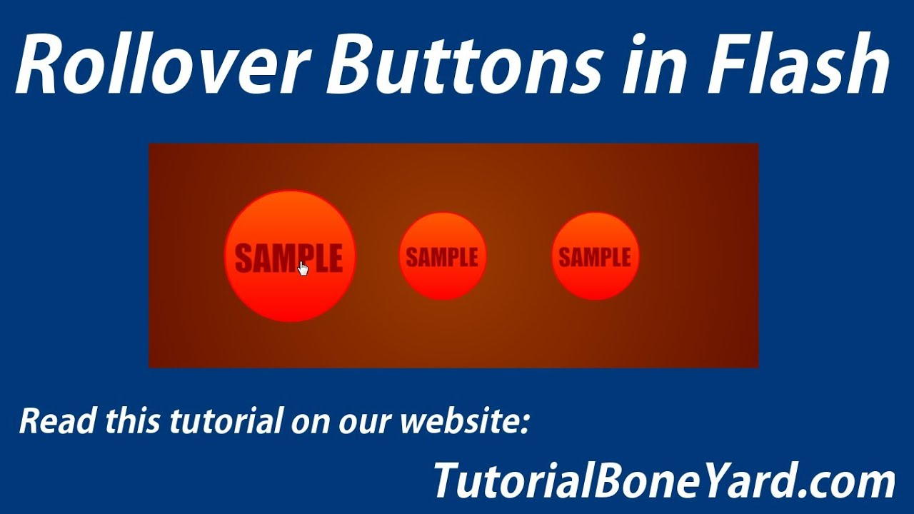 Rollover flash buttons youtube.