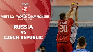 Russia vs Czech Republic  Full Match   Men's U21 World Championships 2019 - Bahrain