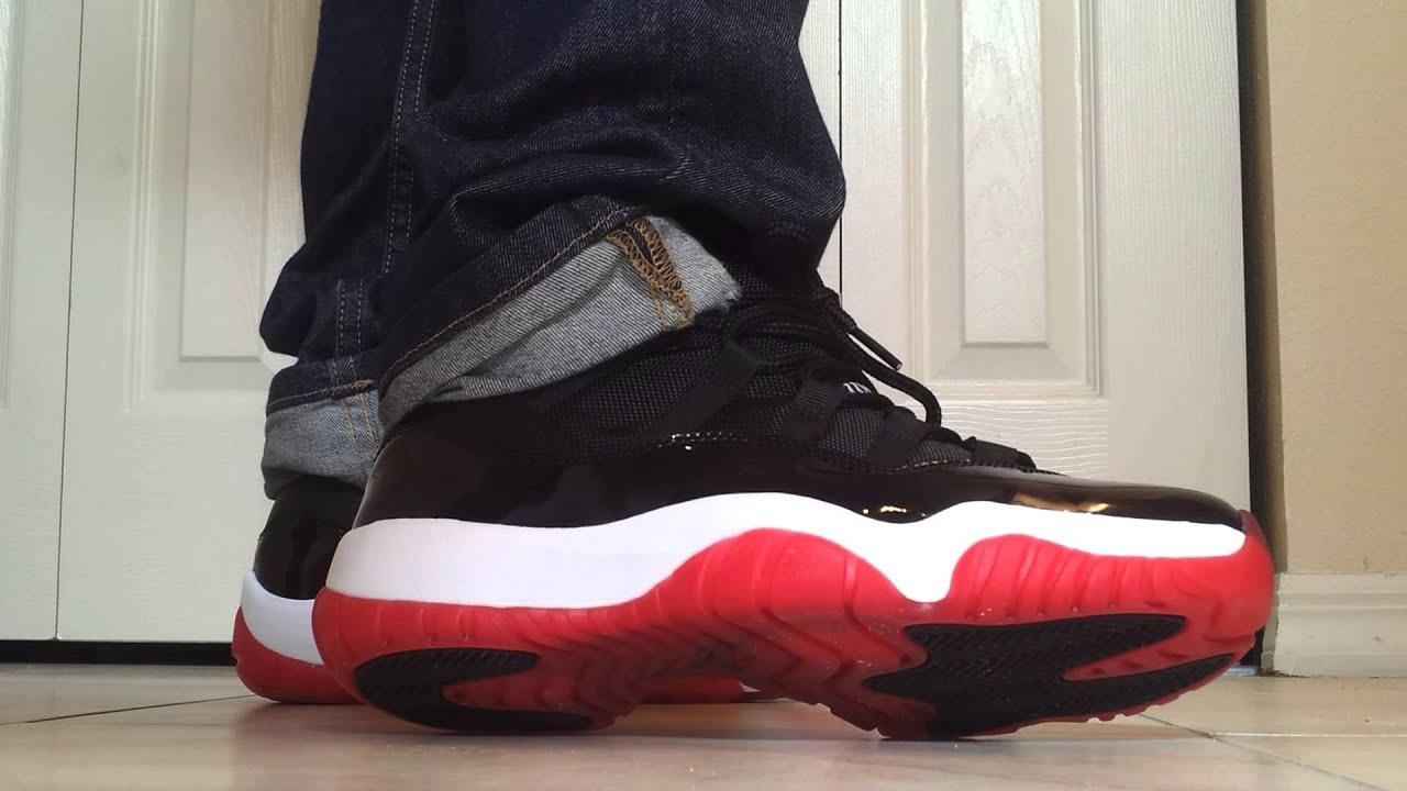 "Air Jordan Retro 2012 Bred 11 ""on feet"" - YouTube Jordan 11 Bred On Feet"