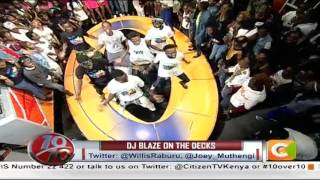 DJ Blaze on the decks #10Over10