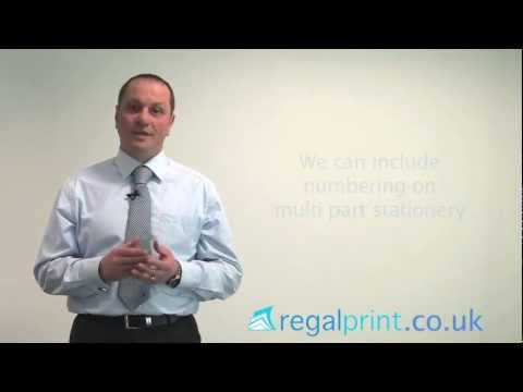 Do Regal Print provide numbering for Printed Stationery?.mp4