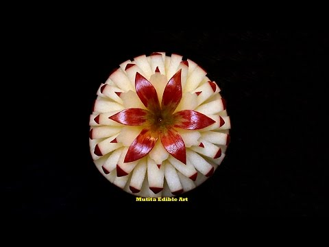 Apple New Style Flower - Intermediate Lesson 59 - Mutita Art Of Fruit And Vegetable Carving Videos - 동영상