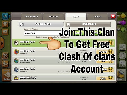 How to get free CLASH OF CLANS ACCOUNT