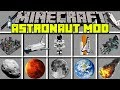 Minecraft ASTRONAUT MOD! | FLY TO SPACE WITH A ROCKET TO EXPLORE PLANETS! | Modded Mini-Game