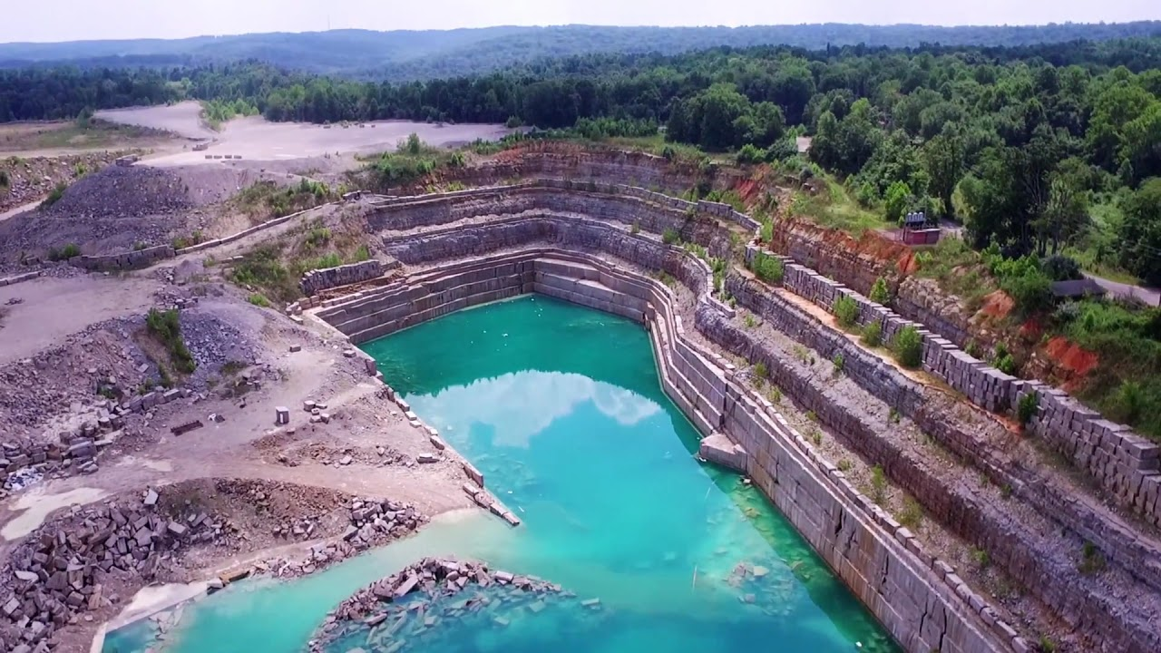 Drone Video Of Victor Limestone Quarry Bloomington In Youtube
