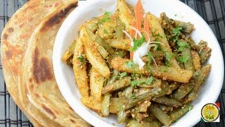 Stir Fried Sesame Potato Beans - By Vahchef @ Vahrehvah.com