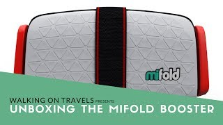 Unboxing and installing the mifold Grab and Go Booster for Traveling with Kids