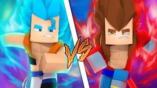 GOGETA SSJ BLUE vs GOKU SSJ4 - VERSUS DRAGON BLOCK C ‹ Frango ›