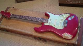 1960 Dakota Red Custom Super Relic Fender Strat Eddie Vegas.MP4