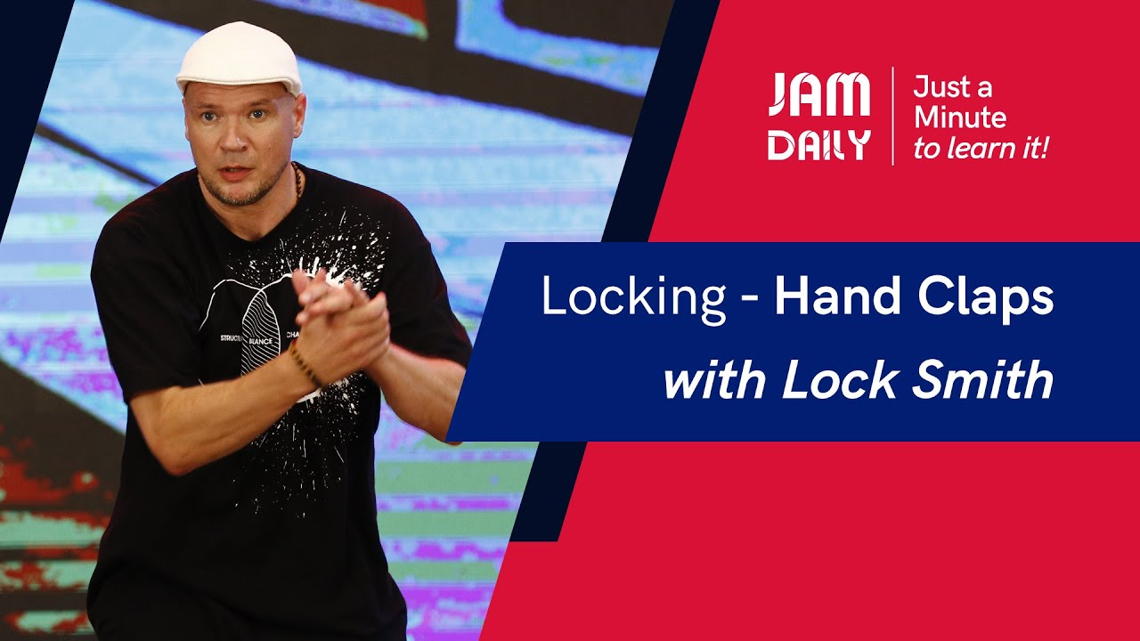 JAM Daily #49 | Just A Minute To Learn 'Locking- Hand Claps' | Dance With Madhuri
