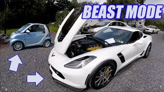 We Dyno a SMART Car!! And Rip a 1100RWHP Corvette on the Streets!