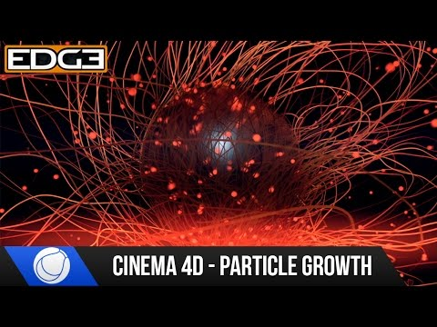 Cinema 4D Tutorial - Particle Outgrowth Effect HD