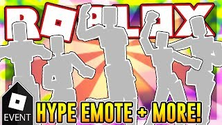[EVENT] How to get the HYPE AND FOUR OTHER EMOTES | Roblox