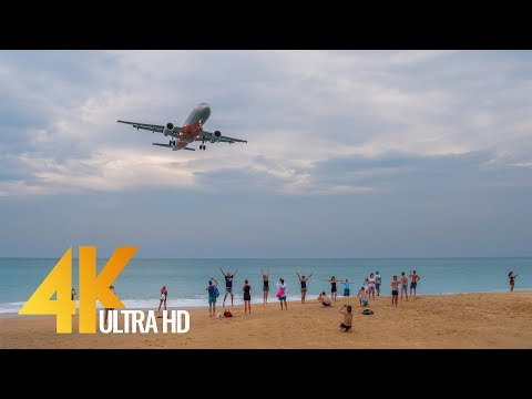 Beaches of Phuket in 4K Ultra HD - 2,5 Hour Relax Video from Thailand with Urban Sounds ( No music )