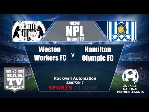 2017 Northern NSW NPL Round 19 - Weston Workers FC v Hamilton Olympic FC