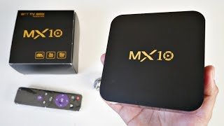 2018 MX10 4K Android TV Box - Android 8.1 OREO - 4GB + 32GB - HDR10