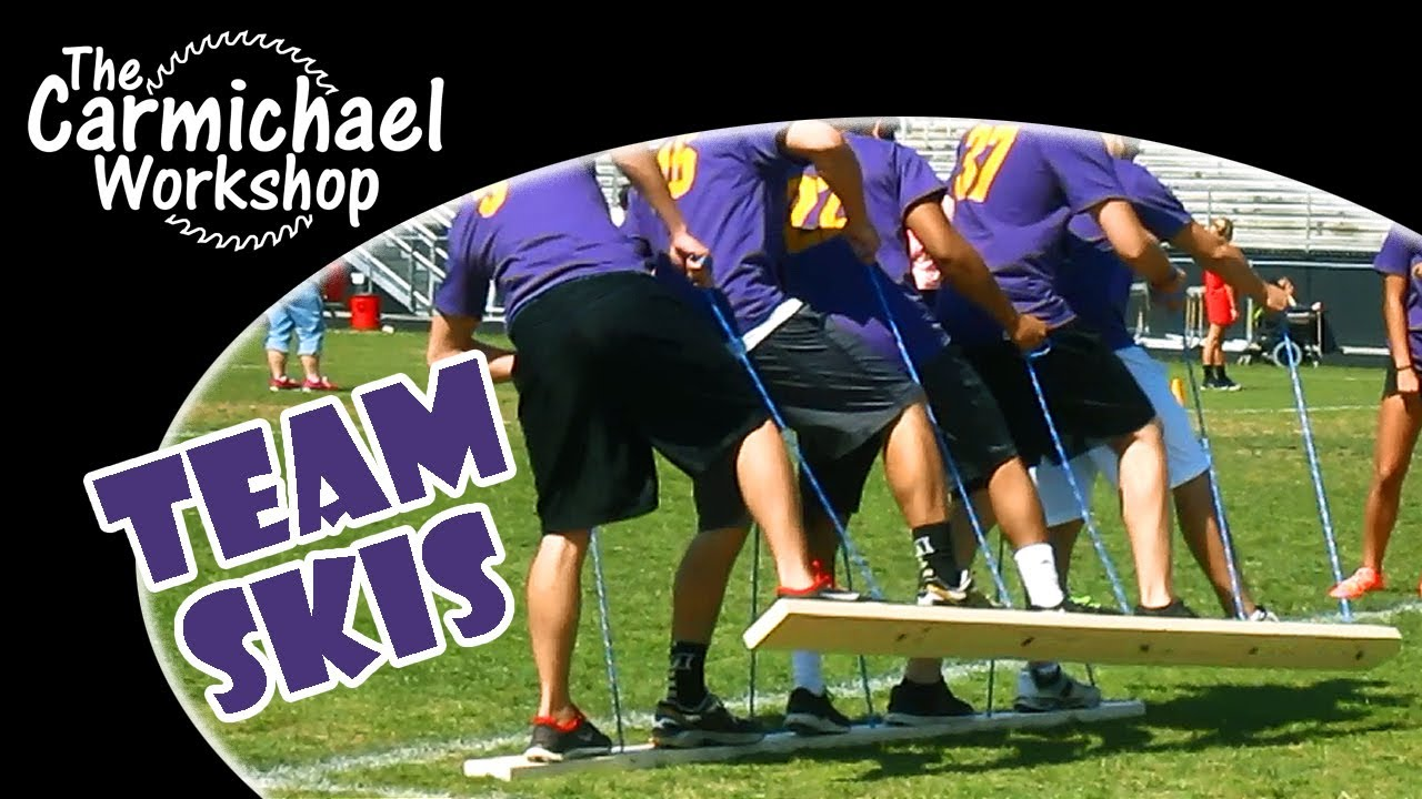 Make Team Building Skis For Field Days Parties Scouting