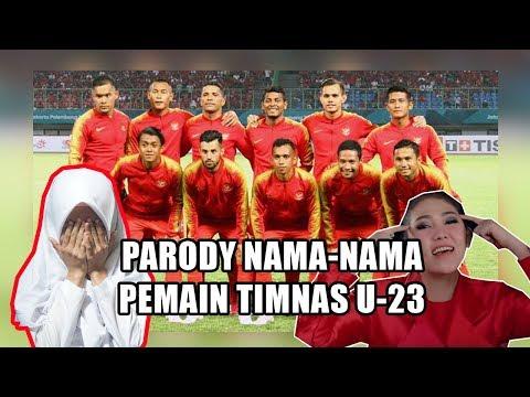Parody Via Vallen - Meraih Bintang (Nama-Nama Pemain Timnas U-23) || Cover Syasya Ai