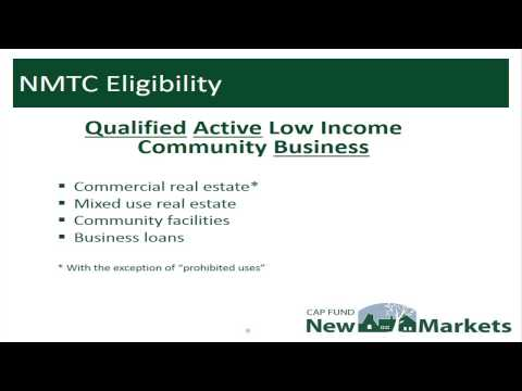 New Markets Tax Credits 101