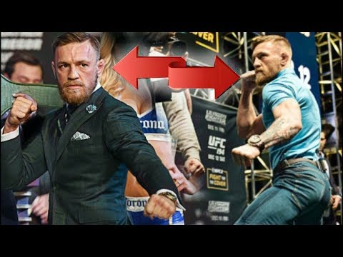In 'state of Zen' Conor McGregor stares at Floyd Mayweather similar to Aldo
