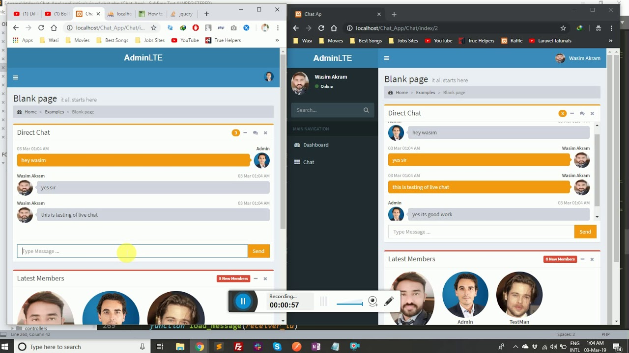 Codeigniter Real Time Chat