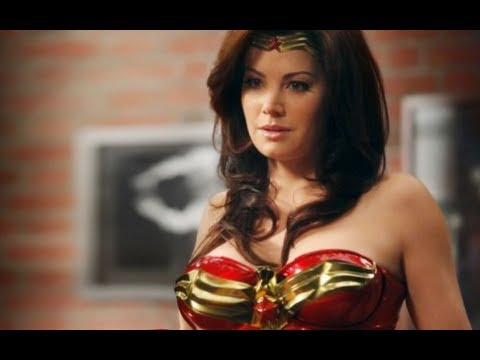 Erica Durance As Wonder Woman  Behind the s Harry's Law