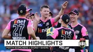 Sixers rally to roll stunned Scorchers | KFC BBL|09
