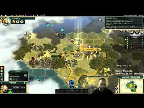 Civilization 5 Multiplayer 121: Russia [1/4] ( BNW 6 Player Free For All) Gameplay/Commentary