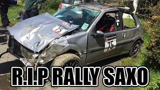 RIP THE RALLY SAXO LOST TO STAGE 12 IN THE MANX NATIONAL RALLY