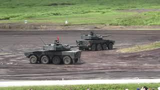 平成30年度富士総合火力演習 16式機動戦闘車の走行と砲撃(4K動画)