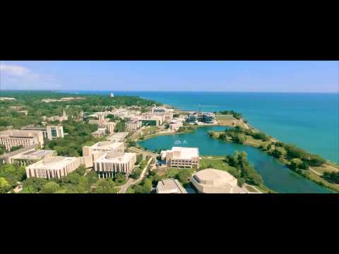 Evanston & NorthWestern Fly Over with Drone #VisualTek