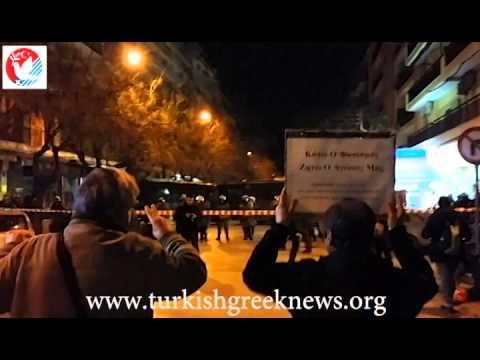 Yunanistan'da Berkin Elvan protestosu