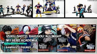 IZUKU SHOTO BAKUGOU ALL MIGHT Figure My Hero Academia BANPRESTO Stop Motion Unboxing