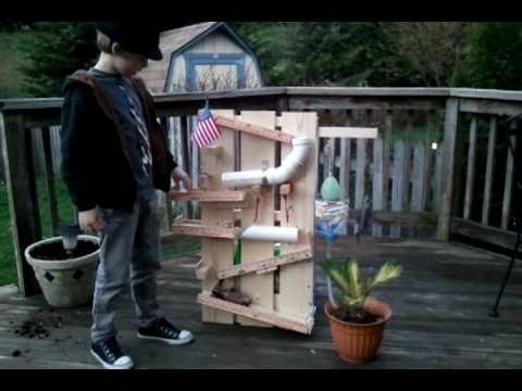 Rube goldberg aiden 39 s how to water a plant youtube for How to water a garden