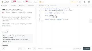 LeetCode 4. [HARD] Median of Two Sorted Arrays
