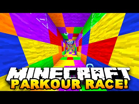 Minecraft - ONE vs ONE PARKOUR RACE! (Degious Parkour!) - w/ Preston & Kenny