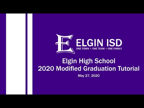 2020 Elgin High School Modified Graduation Instructions