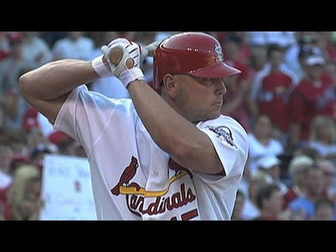 LAD@STL: Holliday steps to the plate as a Cardinal