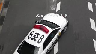 【警察】所轄パトカーに遠慮しながら取締りをする交通機動隊のパトカー