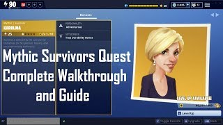 2 FREE Mythic Survivors! Complete Quest Walkthough (Fortnite Save the World)