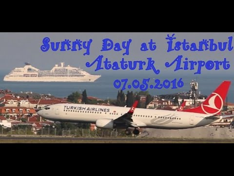 Plane Spotting - Sunny Day at Istanbul Ataturk Airport - 07.05.2016