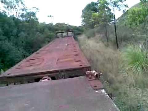 RAILWAY WAGONS ON A DISUSED RAILWAY