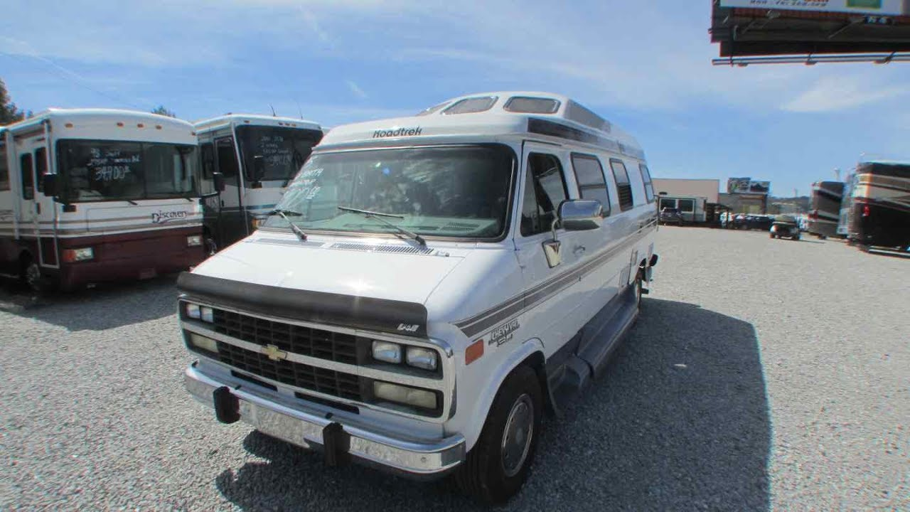 SOLD! 1995 Road Trek 210 Popular Class B Camper Van, Chevrolet, Generator,  King Bed, Clean, $17,900