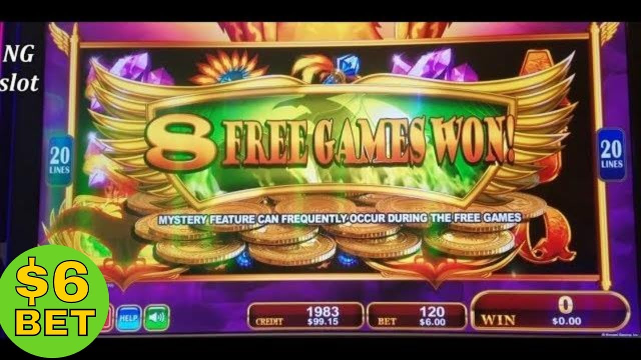 Wings of the Phoenix Slot Machine.Wings of the Phoenix is a fantasy-themed slot machine brought to you by Konami.Just like their other releases, this one uses a 5x3 layout and 30 fixed paylines you can create winning combinations along.This free version of Wings of the Phoenix can be played on desktop or mobile, no registration or download required.