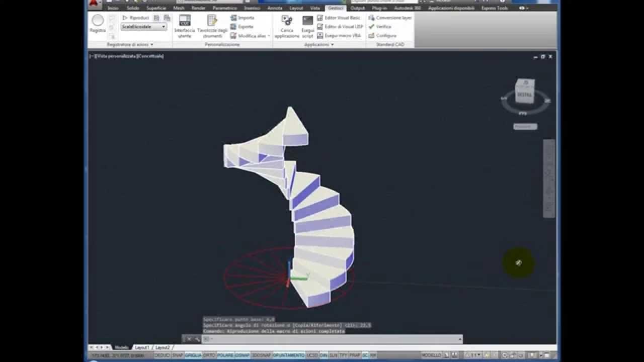 Disegnare una scala a chiocciola helix Stairs con le