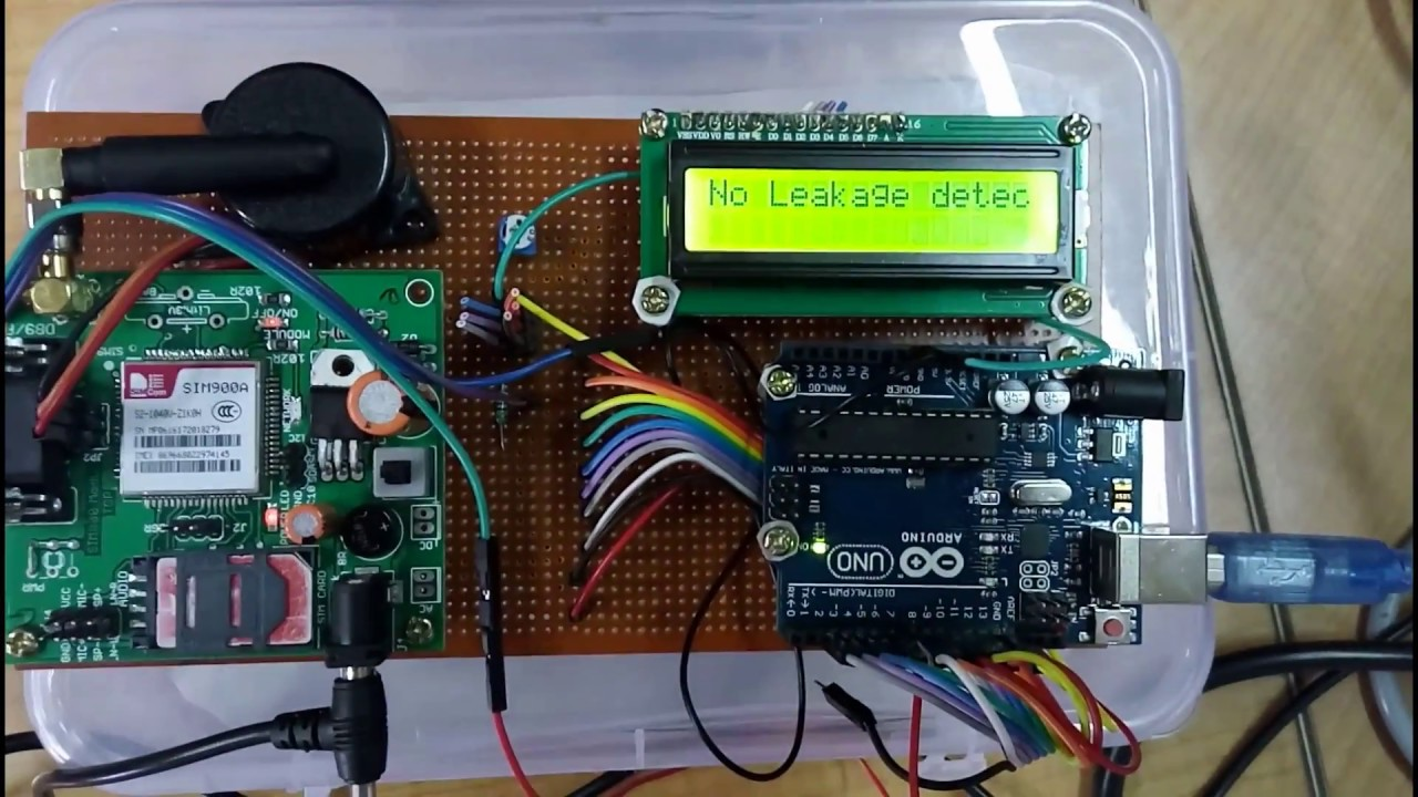 Gas Leakage Detector Using Arduino Uno And Gsm Module With Sms Alert To Send Modem Electronic Circuit Projects Ltit Collage