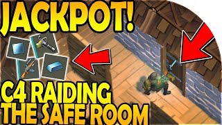 C4 RAIDING the SAFE ROOM (JACKPOT RAID!) - Last Day On Earth Survival Update 1.8.3