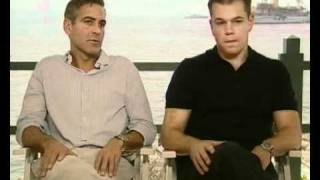 George Clooney and Matt Damon promote Ocean